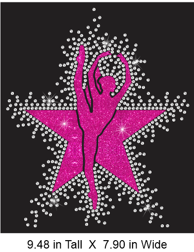 Dance Star KO Vinyl and Rhinestone Transfer